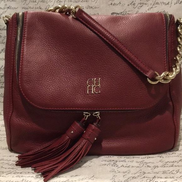 7e95fb664e85 Carolina Herrera Handbags - Carolina Herrera burgundy bag
